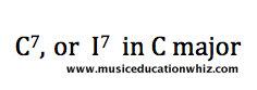 C7 or 17 in C major