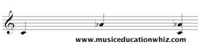 Melodic and Harmonic interval of a minor 6th (C to A flat) on the treble clef staff.