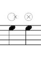 Drum edge or centre symbols